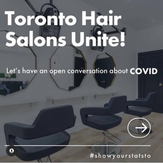 """ALL TORONTO HAIR SALONS,  SHOW @fordnationdougford YOUR NUMBERS !!!  We have been trained in sanitation and disinfecting since day one, we are way ahead of the game with these protocols.   The salon industry is very essential, not only is it a place to """"get away"""" from it all , but we are essential for people's mental health. We are not only here to do your hair , we are here to share your good times and  bad times, from the smallest of secrets , to our greatest achievements.  You are more then just clients in our chairs .....you are our friends  and family!!! . . . #ford #covid #covid19 #staysafe #staystrong #stayhealthy #showyourstatsto #d2ehairboutique #bloorwestvillage #hairsalons #dougford  #mask #masks #mentalhealth #family #friendship #friends #allforoneandoneforall"""