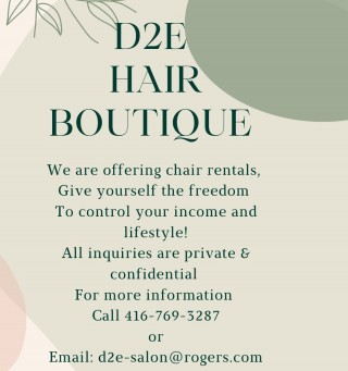 D2E is offering chair rentals, Why not take charge & give yourself the opportunity to make a bigger piece of the pie. With a modern approach as well as a unique opportunity to develop your business, D2E is a clear choice. For further information please feel free to reach out to our team. We look forward to working with you.  . . . . #workforyourself #biggerpieceofthepie #makemoremoney #likeaboss #freedom #livinglife #dream #gobigorgohome #richandfamous #hustler #work #workhardplayharder